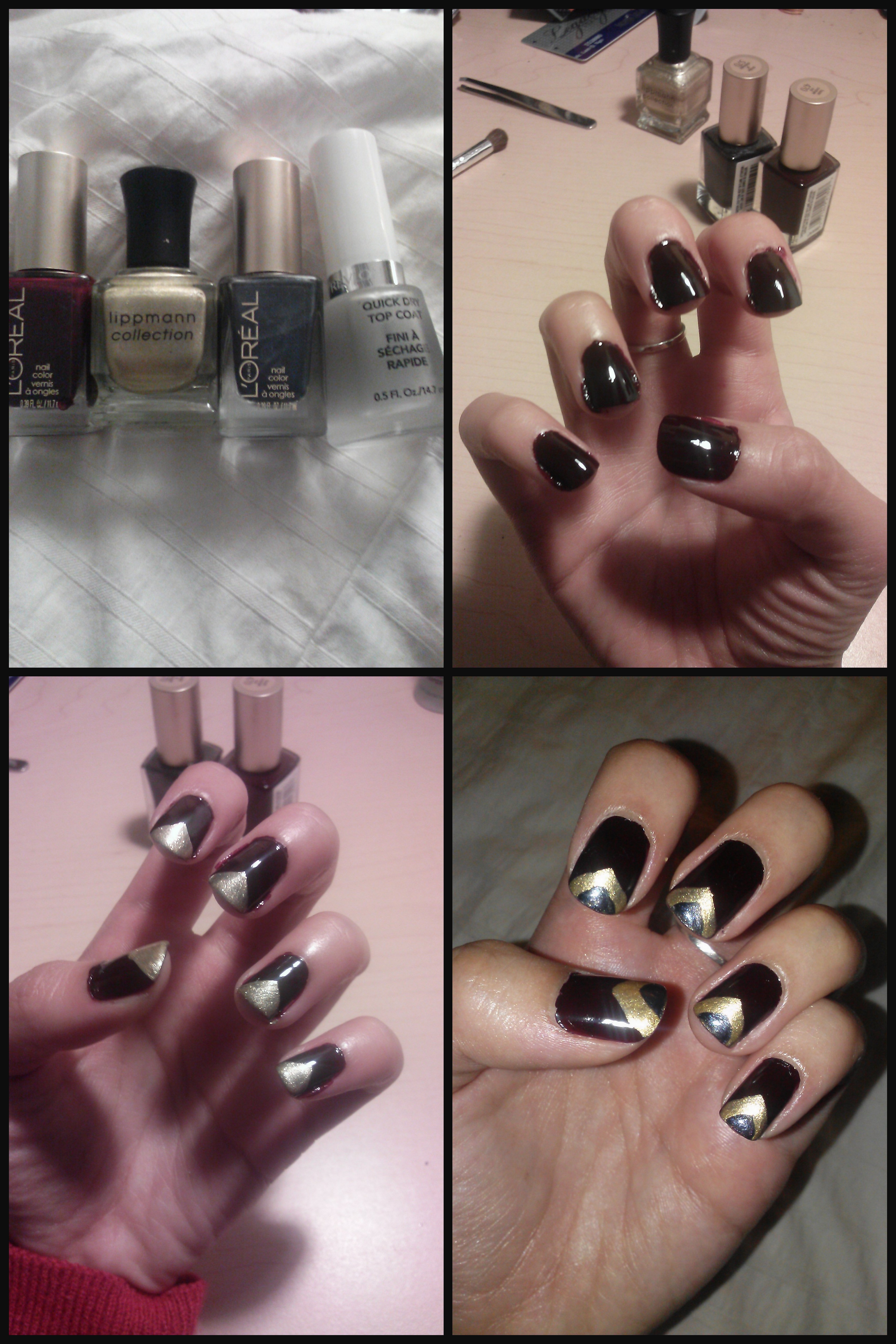 How To Easy Triangle Nail Design Trace In The Place